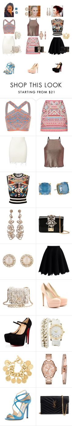 """complicated designs"" by daianetavares310 ❤ liked on Polyvore featuring BCBGMAXAZRIA, Accessorize, adidas Originals, Miss Selfridge, Givenchy, Kate Spade, GEDEBE, Chicwish, Brian Atwood and Christian Louboutin"