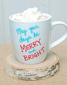 Holiday Sharpie Mug