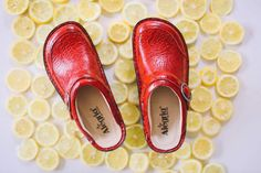 Alegria Shoes Seville Clog in 'Yeehaw Red' - now on Closeout at Alegria Shoe Shop!