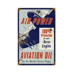 Air Power Automotive Vintage Metal Sign - Victory Vintage Signs by Victory Vintage Signs. $21.95. Made in the USA. Quality Heavy Gauge Metal Sign. Dimension: 12 x 18. Vintage Sign. High Resolution Color Image. This Air Power vintage metal sign measures 12 inches by 18 inches and weighs in at 2 lb(s). This vintage metal sign is hand made in the USA using heavy gauge american steel and a process known as sublimation, where the image is baked into a powder coating for a durable...