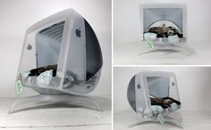 Upcycle Us  Great website...love this upcycled pet bed from an old computer monitor!