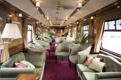 *Royal Scotsman, lounge car, by Train Chartering & Private Trail Cars