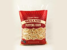 100 Cleanest Packaged Food Awards 2013:  Snacks & Treats: Trader Joe's organic popping corn http://www.prevention.com/food/healthy-eating-tips/100-cleanest-packaged-food-awards-2013-snacks-treats?s=4