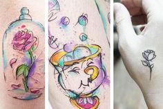 as-tatuagens-disney-mais-lindas-que-eu-ja-vi-a-bela-e-a-fera