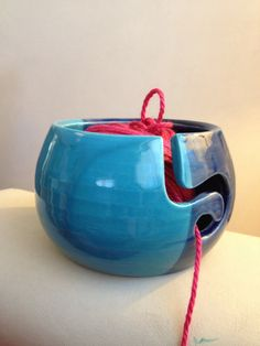 Yarn bowl pottery