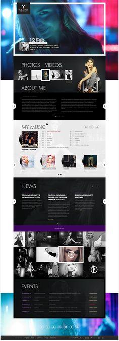 Polina Gagarina.com - Web iPad Edition