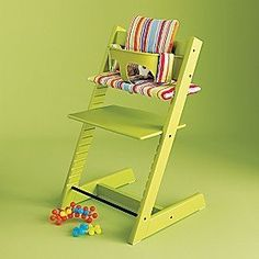 The Stokke Tripp Trapp high chair.  Love that they grow with the kids through so many phases.
