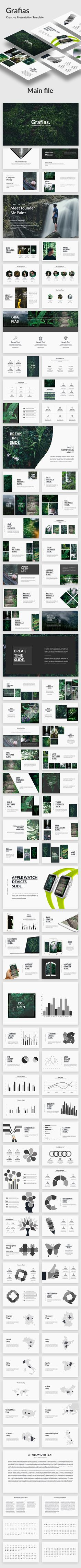 Grafias  Creative Keynote Template — Keynote KEY #creative #fashion • Download ➝ https://graphicriver.net/item/grafias-creative-keynote-template/19771991?ref=pxcr