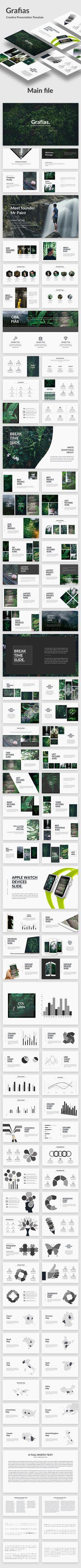 Grafias  Creative Keynote Template — Keynote KEY #creative #fashion • Download ➝ https://graphicriver.net/item/grafias-creative-keynote-template/19771991?ref=pxcr