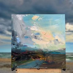 """eventide"" Loving the south coast skies this month… #modernart #architects #painter"