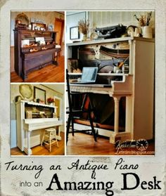 How to Turn an Antique Piano into an Amazing Desk! | Knick of Time