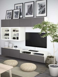 15 Beste Von Ikea Wohnwand Ideen Best Picture For Apartment Decorating balcony For Your Taste You ar Ikea Wall Units, Ikea Tv Unit, Modern Tv Wall Units, Ikea Entertainment Center, Ideas Decoracion Salon, Interior Ikea, Ikea Tv Stand, Wall Unit Designs, Muebles Living