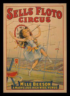 Quadro Poster Cinema Sells Floto Circus - Decor10