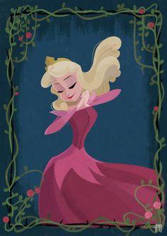 Disney Princess´s Aurora Fanart Illustrations on Behance Disney Artwork, Disney Fan Art, Arte Disney, Disney Magic, Princesa Disney Bella, Pixar, Disney Princess Drawings, Disney Princesses, Princess Aurora