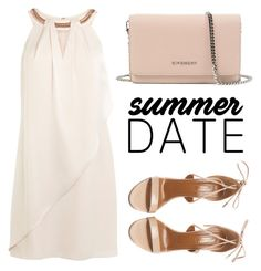 """""""Summer Date"""" by viavio ❤ liked on Polyvore featuring Givenchy, Aquazzura, summerdate and rooftopbar"""