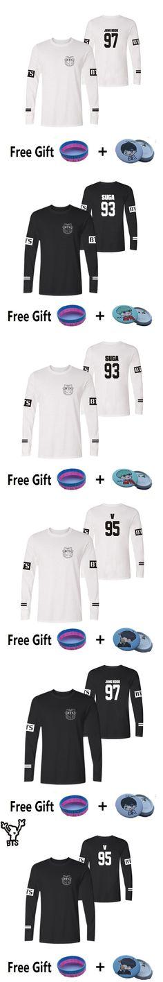 BTS Kpop Long Short T-shirt Long Sleeve Korean Popular Bangtan Tee Shirt Long Fashion Casual V SUGA JUNG KOOK Funny T Shirts 4XL