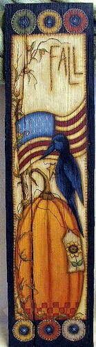 Old crow on a pumpkin