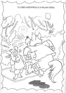 JARDIM COLORIDO DA TIA SUH: A história dos três porquinhos para ler e colorir ou imprimir - Os 3 porquinhos