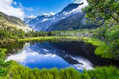 New Zealand Hiking -The Mecca OfHiking Trails New Zealand Lake http://newzealandwalkingtours.com/new-zealand-hiking/ #newzealandhikingtours #newzealand #travel
