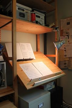 IKEA Hackers: Ivar Stand-up Music Cueing Desk / Drafting Table