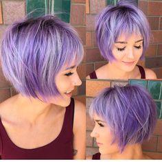 "17 Likes, 3 Comments - HAIRCUTS ✂️ BOBS LOBS (@bobloblove) on Instagram: ""O M G @katiezimbalisalon #bobloblove #bobhaircut #texturedbob #hair #purplehair #purplebob"""