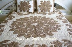 Another nice big Ulu pattern Applique Stitches, Applique Patterns, Applique Quilts, Textile Patterns, Hawaiian Quilt Patterns, Hawaiian Quilts, American Quilt, Quilting, Master Room