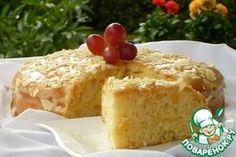 Торт Лёгкий. Бисквит на растительном масле и яблоках с заварным кремом
