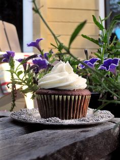 Chocolate Coconut Cupcakes, Three Frostings, and a Birthday! | Becca Bakes Cupcakes