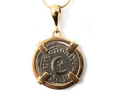 Etsy :: Your place to buy and sell all things handmade Greek Sun God, Ancient Roman Coins, Gold Coin Necklace, Antique Coins, Gold Coins, Silver Diamonds, Solid Gold, Antiques, Handmade