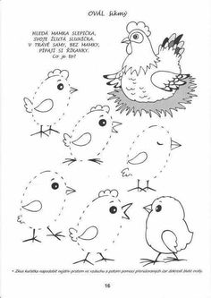 Oval tracing lines Color Worksheets For Preschool, Farm Animals Preschool, Easter Activities For Kids, Easter Crafts For Kids, Preschool Activities, April Preschool, Animal Crafts, Colouring Pages, Kids And Parenting