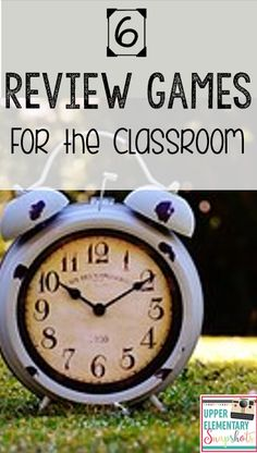 Six great review games that your students will love! Great way to reinforce concepts while having fun! Written by The Teacher Next Door on Upper Elementary Snapshots.