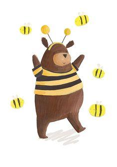 Animal illustrations - Guestpinner @happymakersblog - llustrator: Becky Down  #kidsdinge