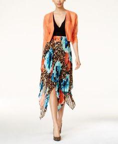 Thalia Sodi Metallic Shrug & Pleated Halter Dress, Only at Macy's