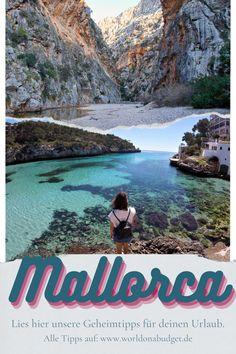 Das sind die schönsten, einsamen Strände auf Mallorca. Wir verraten in unserem Mallorca Geheimtipps, wo du wunderschöne Buchten findest und welche unsere Favoriten sind. Plane deinen Mallorca Urlaub und genieße die schönsten Orte fast ganz alleine. Lies jetzt unsere Tipps für Mallorca. Menorca, Roadtrip, Nature, Travel, Paris, Europe, Travel Report, Travel Inspiration, Explore