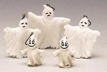 32758 - Halloween Tree Decoration, Set of 5 Ghosts - Lemax Spooky Town Halloween Village Accessories