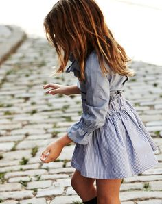 Blue and white striped shirt dress - perfect for the Summer months.