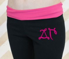 Yoga Pants with Greek Life Girl monogram for Delta Gamma