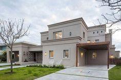 2 Bedroom House Plans, Dream House Plans, Art Deco Home, Mediterranean Homes, Facade House, House Elevation, Pent House, Classic House, Exterior Design