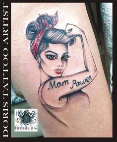 girl/mom power tattoo