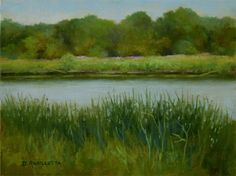 July 12th At The River by Deborah Angilletta Oil ~ 9 x 12