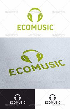 Ecomusic - Logo Design Template Vector #logotype Download it here: http://graphicriver.net/item/ecomusic/1635387?s_rank=931?ref=nesto