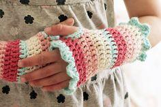 Crochet wristlets - very cute!!