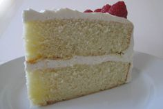Vanilla Cake - this is wonderfully moist (from buttermilk) with a tender, light crumb. The fluffy buttercream frosting is billowy and not too sweet.