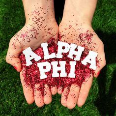 but with Alpha Phi Omega and our colors or SU colors
