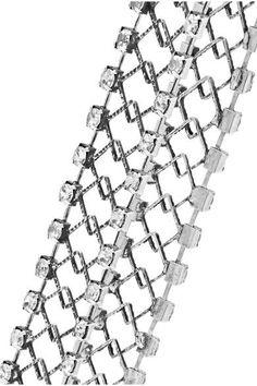 DANNIJO - Kennedy Oxidized Silver-plated Swarovski Crystal Choker - One size