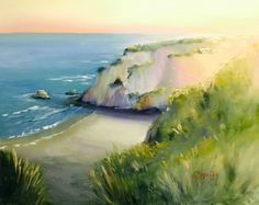 Oil on Canvas Painting Workshop, Cliff, Pastels, Oil On Canvas, Gay, California, Water, Outdoor, Gripe Water