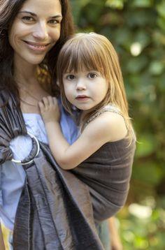 Babywearing by Elizabeth & Elodie Antonia via The Littlest