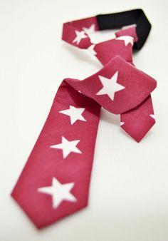 Claret Red Stars, Cotton Baby Tie by LimitlessTie on Etsy