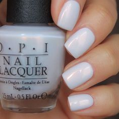 Nails The 35 Prettiest Wedding Nail Colors. OPI oh my majesty Drill Buying Considerations With Co Essie, Cute Nails, Pretty Nails, Pretty Nail Colors, Nail Colour, Nail Colors For Pale Skin, Solid Color Nails, French Nail Polish, White Nail Polish