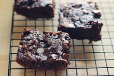 Zucchini Brownies: We made these just according to the recipe (used darker chocolate, I don't like milk) and they were amazing! Ok, I might have added a few extra chocolate chips...